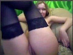 Blond girl do Double Penetration on Webcam
