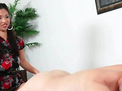 Asian cutie gets her wet cunt drilled