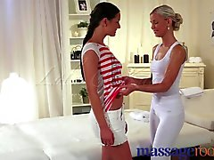 Massage Rooms - Moist camel toe pussies