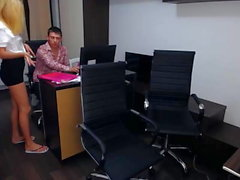 House group porn with three girls at office