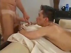 Dad and son fuck delivery Guy