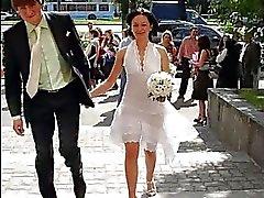 bruid porno video's bruiden getrouwd sex uniform upskirt