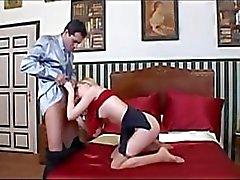 pantys nylon trabajando con el pie rubia fetiche