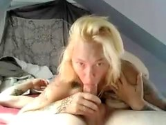amatööri blondi suihin webcam