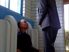 in the public toilet