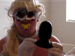 sissy kristen gaping ass with 12 inch black cock