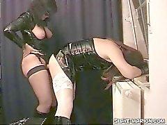 Mistress Fucks Amateur Tranny
