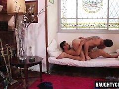 Hot gay flip flop and cumshot