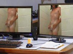 Public shower nude flashing by Mark Heffron