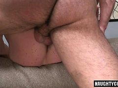 Big dick gay anal sex and facial