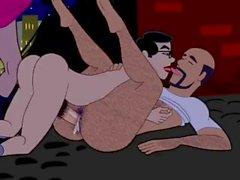 cartone animato cazzo bareback addestrare pubblico animato asino penetrante nero cazzo faccia analizzate