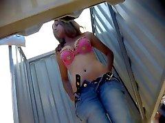 strand grote borsten hidden cams