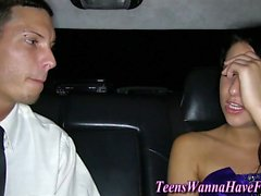 Teen fucked in prom limo