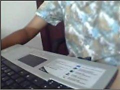 Indian teenager On Webcam