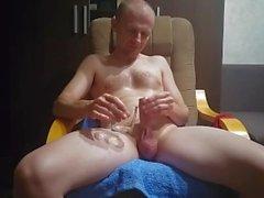 Caressing masturbation - drinking urine