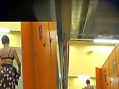 Real hidden camera in a locker room