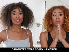 schwarz und ebony teenageralter gesichtsbehandlungen interracial orgie