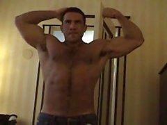 peludo músculo músculo -man do músculo de perno de pressão