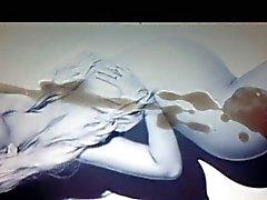Christina Aguilera beautiful pregnant cum tribute 02