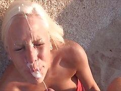 блондинках эякуляция уход за лицом