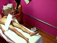 Real asian masseuse spoiling cock