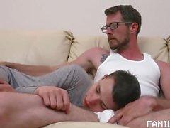 Family Dick-Sleepy Movie Night