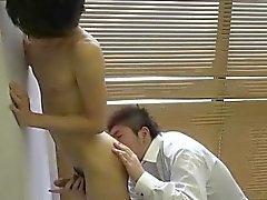 Japanese twink ass rimmed