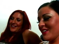 Four horny babes in CFNM porn video