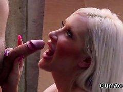 sarışın oral seks cumshot yüz