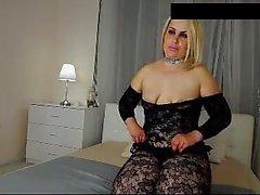 amatööri blondi itsetyydytys milf nylon