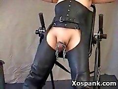 Spanking Chick In Voluptuous Fetish Sex