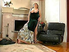 Sweet Louisa gets hot at the fireplace 2