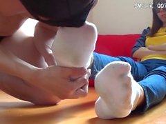 pies femdom los pies fetiche de calcetines
