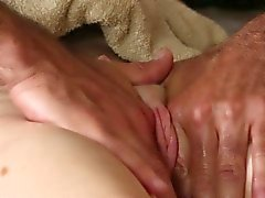 Pussy massage for dumb blonde