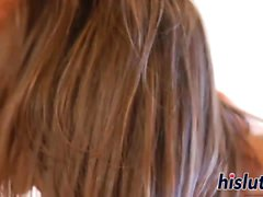 les grosses bites pipe brunette éjaculation soin du visage