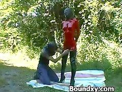amateur bdsm slavernij gebonden overheersing