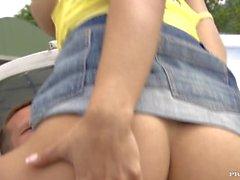 kolmikko tyttö aasialainen pienten tissit luiseva