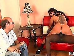 Cuckold husband watches wife fuck black guy