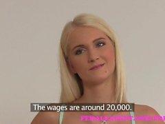 femaleagent ragazza sul femminili dilettante audizione colata