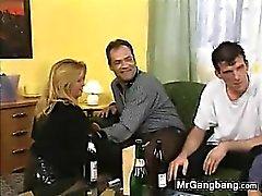 Dirty German Slut Hired For A Gangbang