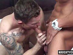 Big dick gay seduction with facial