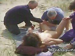 britânico sexo em grupo peludo