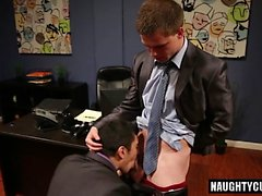Hot son oral sex and cumshot