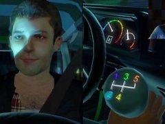 Sexy Interracial Man Jerks Off His Car