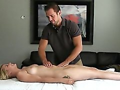 Muff drilling with busty beauteous babe