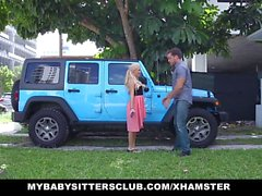 MyBabySittersClub - Babysitter surprised with cock on bday