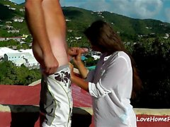 Public Outdoor Fucking On A Roof