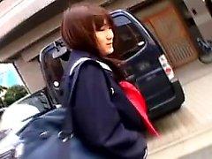 asiatique japonais masturbation de plein air étudiant