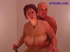 bbw éjaculation putain de seins