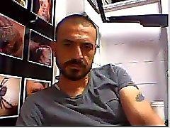 Straight guys feet on webcam #1